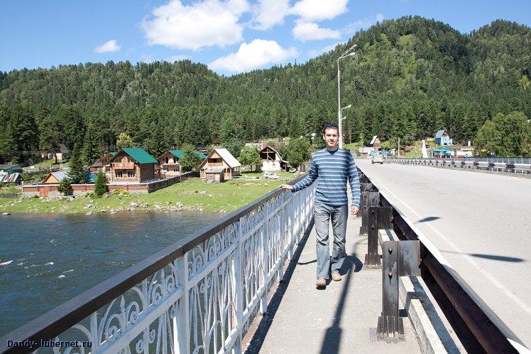 Фотография: Мост между о.Телецкое и р.Бия, пользователя: Dandy
