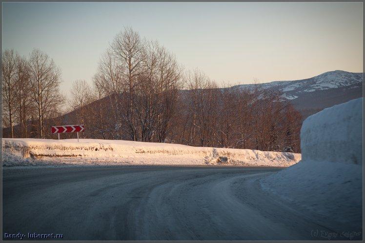 Фотография: дорога в Шерегеш, пользователя: Dandy