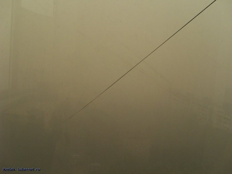 Фотография: Вид с балкона, провода уходят во мглу., пользователя: Kostak