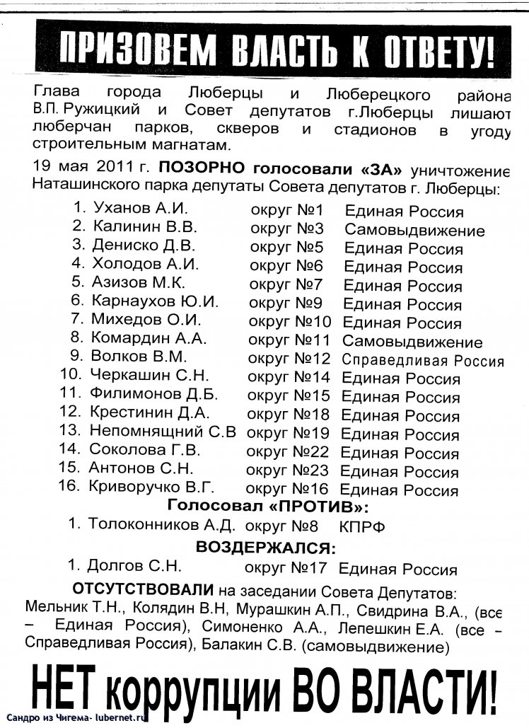 Фотография: Итоги голосования депутатов по парку(с учетом партийной принадлежности).jpg, пользователя: В@cильичЪ