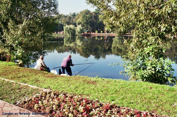 Фотография: Рыбаки на верхнем пруду.jpg, пользователя: Сандро из Чигема
