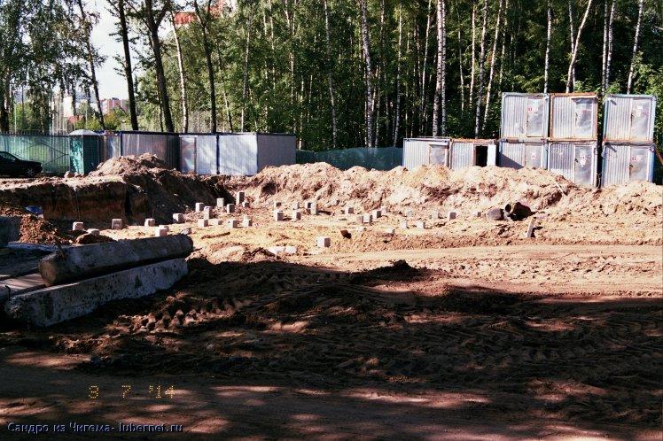 Фотография: Этапы строительства ФОКа в Наташинском парке - забитые сваи .jpg, пользователя: В@cильичЪ
