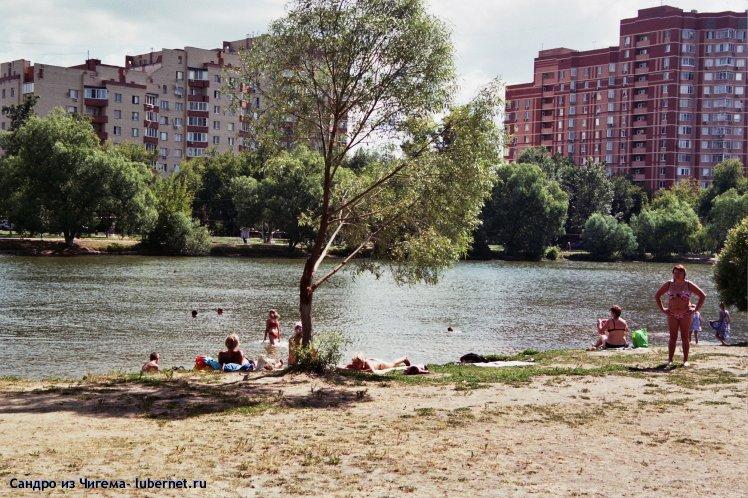 Фотография: Загарающие и купающеся на верхнем пруду.jpg, пользователя: Сандро из Чигема