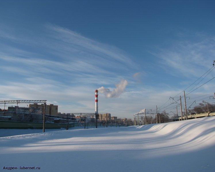 Фотография: Железнодорожный пейзаж (дорога на Выхино).jpg, пользователя: Андрон