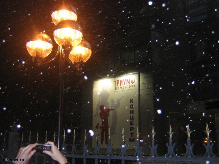 Фотография: Первый снег и слезы фонарей, пользователя: Авиатор