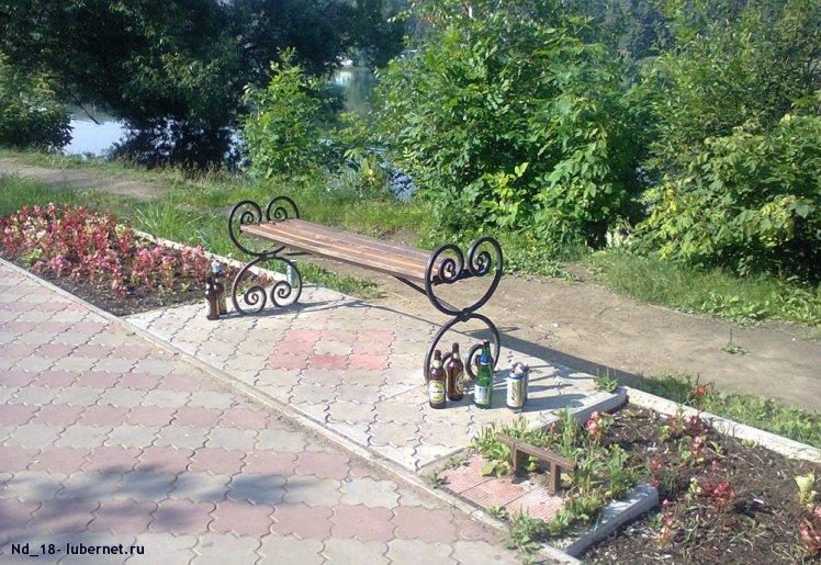 Фотография: Утренняя композиция из пивных бутылок в сквере Наташинского парка, пользователя: Nd_18