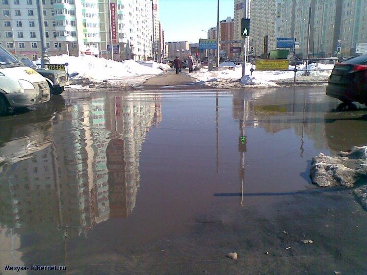 Фотография: Пешеходный переход на Комсомольском проспекте - 2., пользователя: Мезу́за