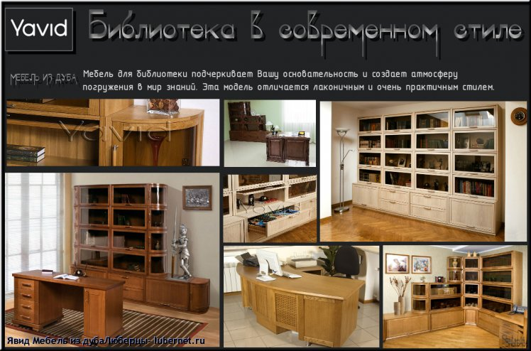 Фотография: Библиотека в современном стиле.png, пользователя: Явид Мебель из дубаЛюберцы