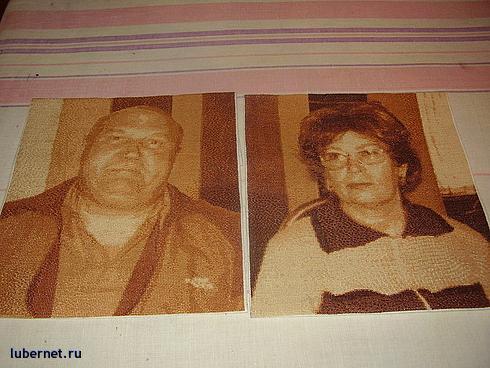 Фотография: вышивка - портреты родителей, пользователя: Олюня