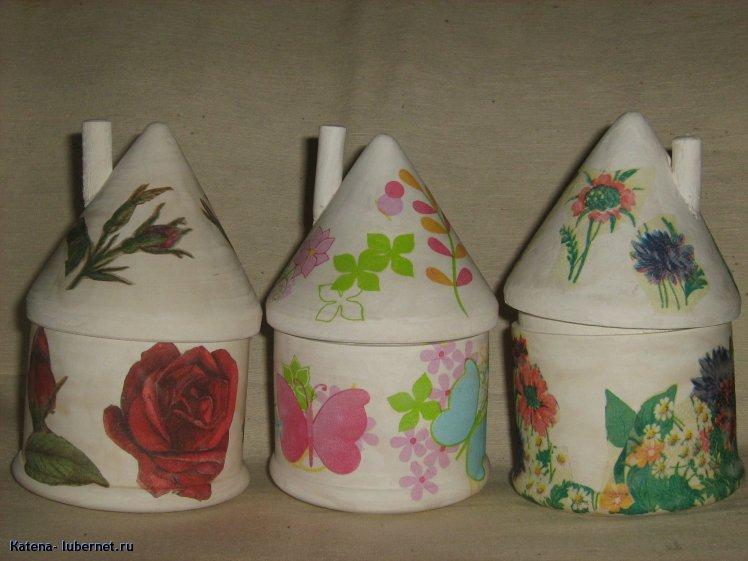 Фотография: домики-солонки, декупаж, пользователя: Кatena