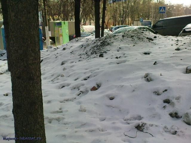 Фотография: Снег и лед у торгового центра 4.JPG, пользователя: Марина
