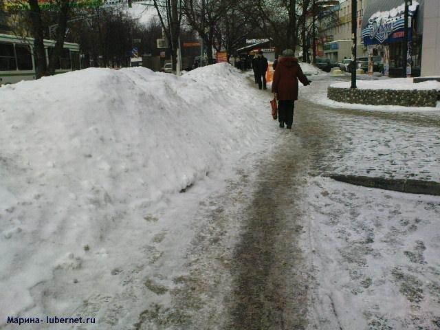 Фотография: Снег на тротуаре 1.JPG, пользователя: Марина