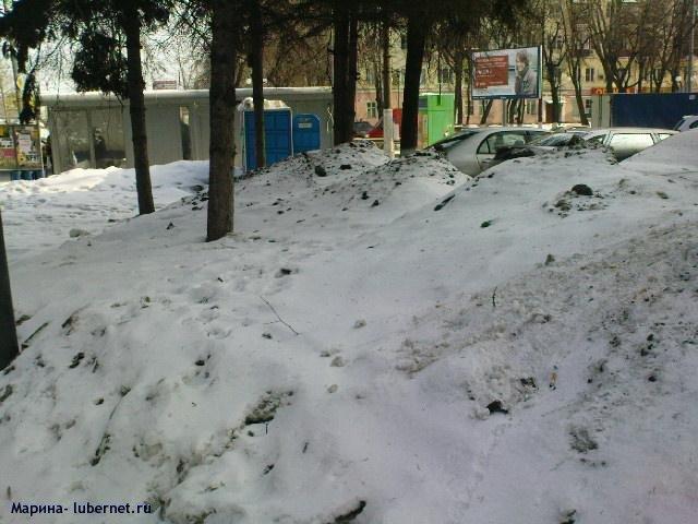 Фотография: Снег и лед на газоне 1.JPG, пользователя: Марина