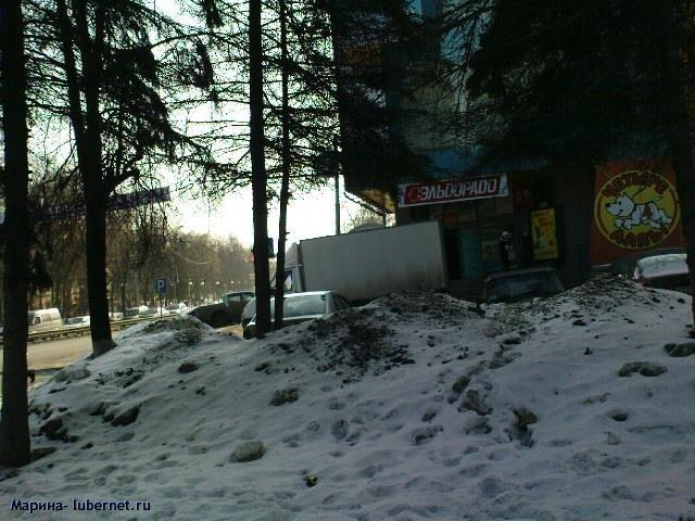 Фотография: Снег и лед на газоне 3.JPG, пользователя: Марина