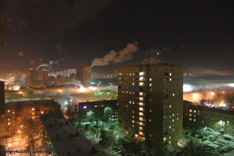 Фотография: Туман (21.01.2014 около 22-00), пользователя: SergeyKa2009