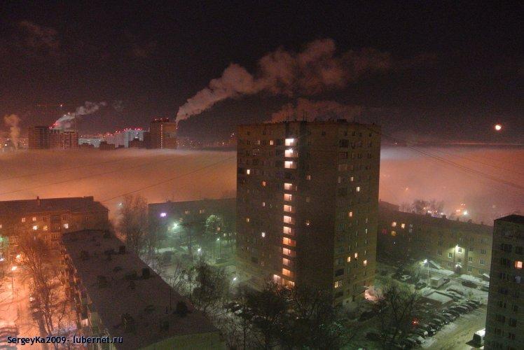 Фотография: Туман (21.01.2014 около 23-30), пользователя: SergeyKa2009